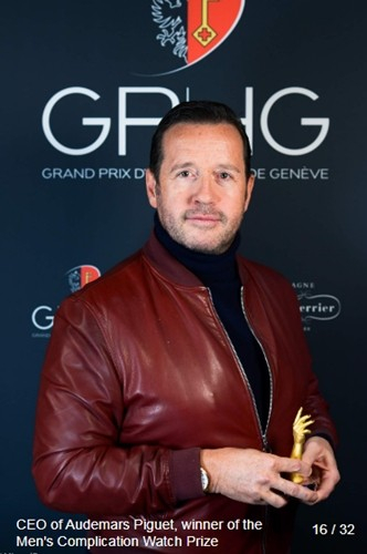 François-Henry Bennahmias (CEO of Audemars Piguet) winner of the men s complication watch prize