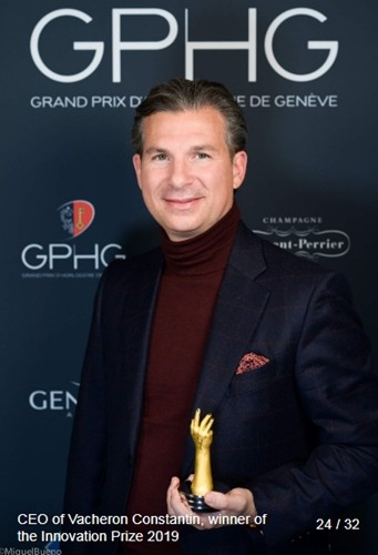 Louis-A FERLA (CEO at Vacheron Constantin) winner of the innovation prize 2019
