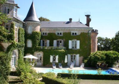 immobilier de luxe - chateau avec piscine